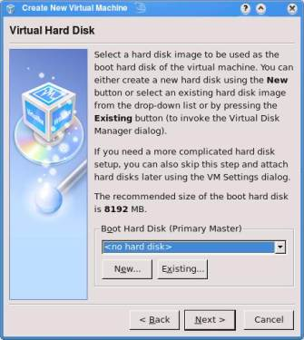 VirtualBox Menu