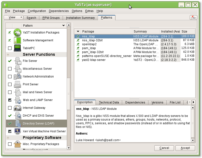 Configure active directory server with samba pdc + openldap on suse linux (part 2)