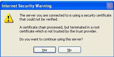Outlook Untrusted Certificate