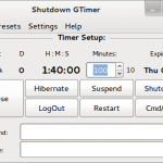 Shutdown GTimer