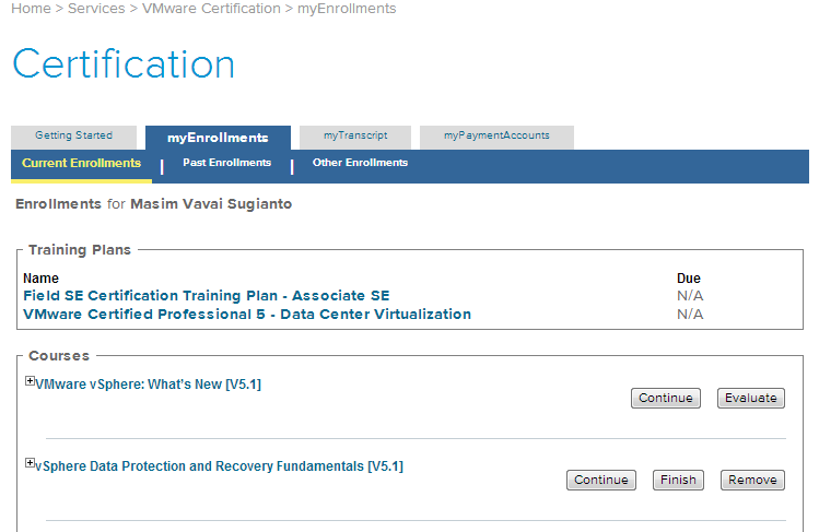 vavai-my-learn-vmware-enrollment