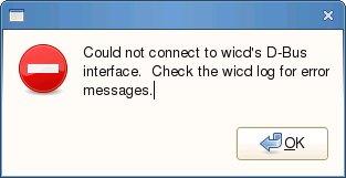 Gambar 1 : Masalah Wicd saat start-up